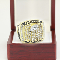 2017 Fantasy Football Championship Ring Trophy Prize Super Bowl Championship Ring For Fans Size 8 9