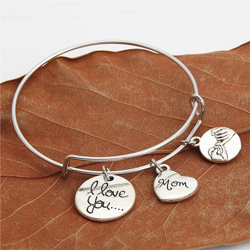 1pc I Love You Charm Bangle...