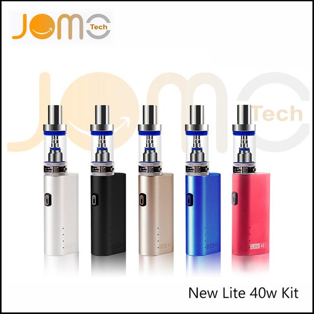 Jomotech kit de cigarrillos electrónicos ecig cuadro mod nuevo lite 40 w vape tanque de cigarrillos electrónicos con 2200 mah batería bobina jomo-02