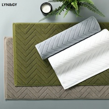 LYN&GY 100% Cotton Home Bathroom Mats Absorbent Towels Doormat Non-slip Hotel Entrance Hall Rugs and Carpet for Bedroom 75x45cm