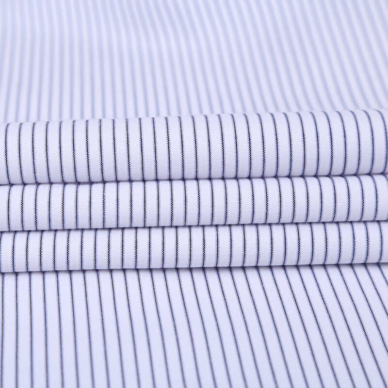 プラスサイズ 7xl ビジネス men'striped 社会シャツフロントポケット長袖ターンダウン襟非アイアン簡単ケア