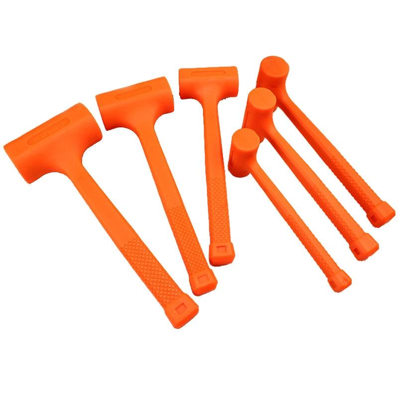 0.5-4LB Dead Blow Mallet Orange Soft Rubber Unicast Hammer цена