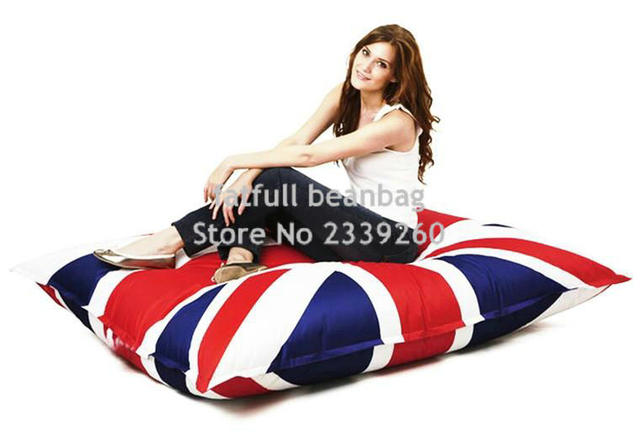 Cover Only No Filler  Union Jack Large Bean Bag Chair, BIG CUSHION, UK