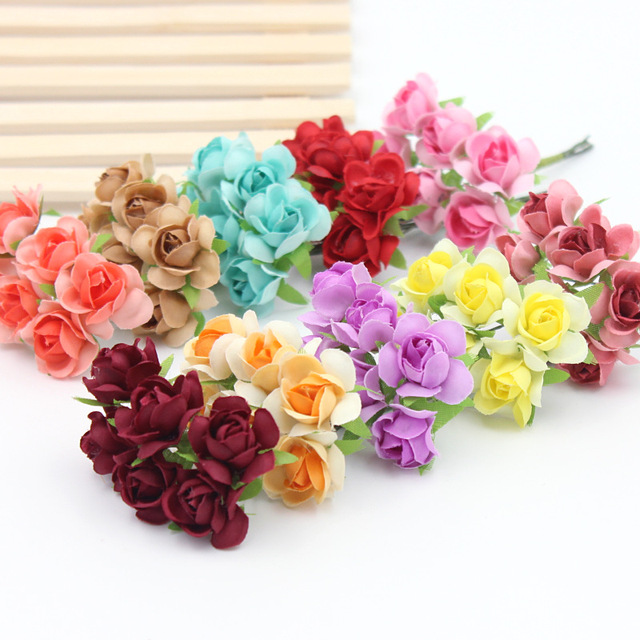 6pcslot 23cm silk flower diy handmade materials wholesale foam 6pcslot 23cm silk flower diy handmade materials wholesale foam wreath flowers simulation roses mightylinksfo