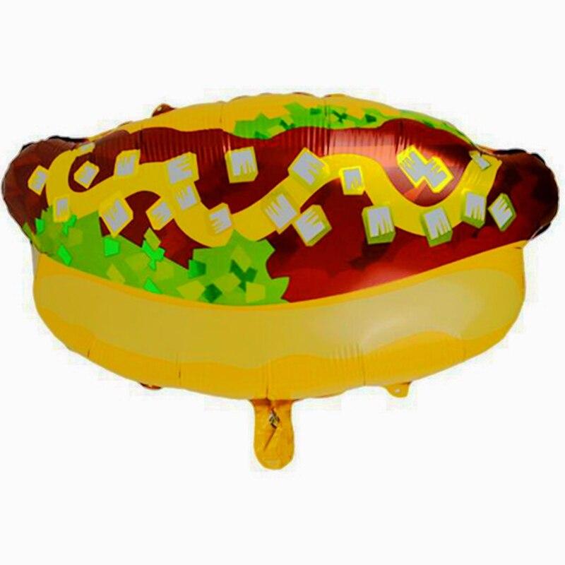 Новый хлеб хот-дог ветчина колбаса Фольга гелиевые шары рождения детей Свадебные украшения вечерние поставки Baby Shower игрушки Еда шар