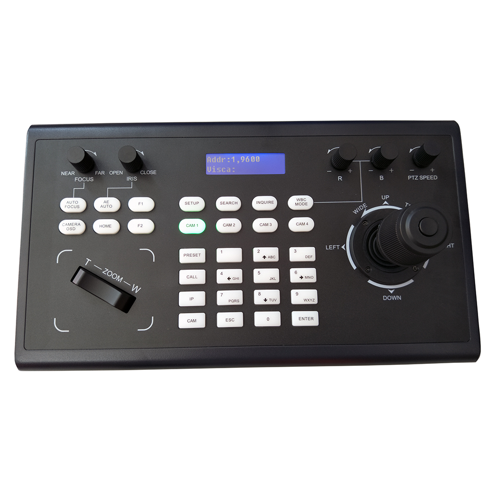 Image 3 - Video Conferencing Network Keyboard Controller joystick RS485/232 RJ45 Ports PelcoD VISCA for HDMI SDI IP Conference CameraCCTV Control System   -