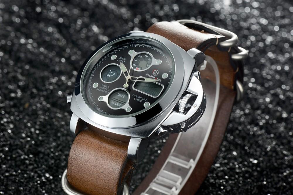 ผู้ชายแฟชั่นW Ristwatcheหรูหราร้อนแบรนด์ฉลามนาฬิกาสไตล์ผู้ชายสายหนังนาฬิกากีฬานาฬิกาที่มีคุณภ... 17