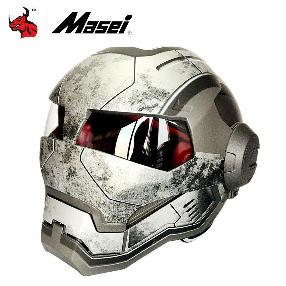 masei classic motorcycle helmet casque motocross flip up moto helmet vintage racing helmets. Black Bedroom Furniture Sets. Home Design Ideas