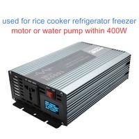 Superior Pure sine wave power inverter sustain power 1000W good inverter 12V/24V to 220V 230V with digital fault prompts display