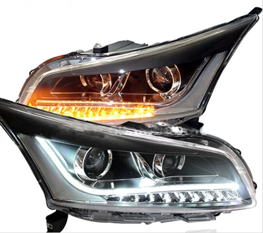 Bumper Lamp For Chevrolet Cruze Headlight 2009 2010 2011 2012 2013 DRL Bi Xenon Lens HI LO Parking HID Fog Lamp Cruze Taillight