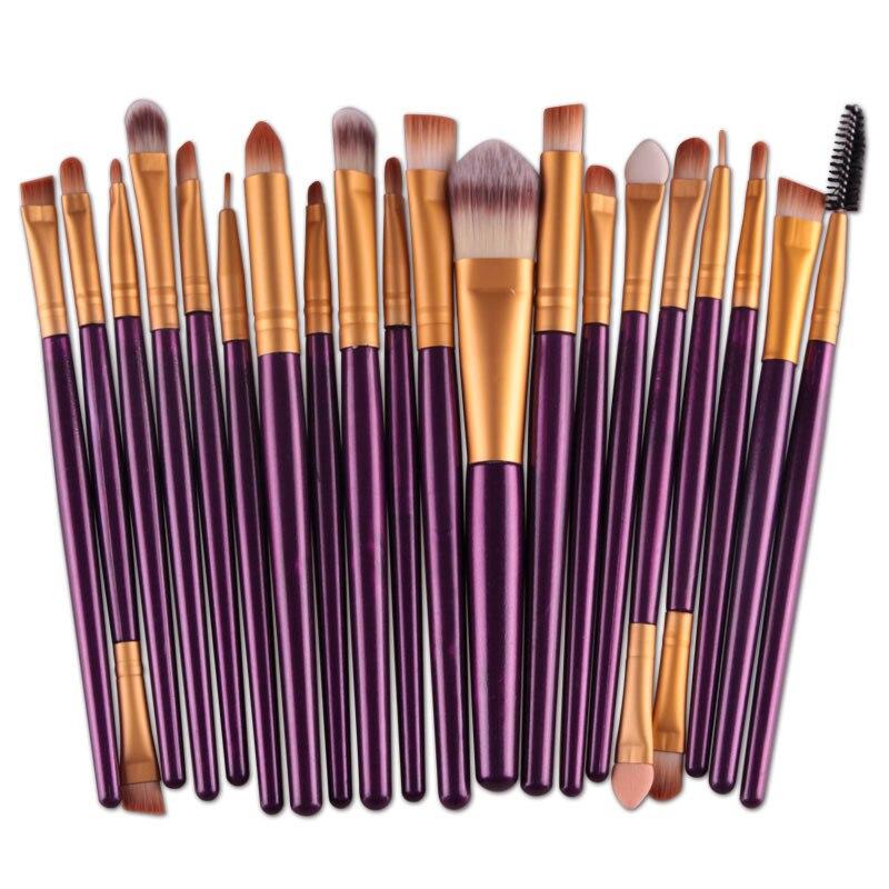20pcs Eyes Brushes Set Eyeshadow Eyebrow Eyelashes Eyeliner Lip Makeup Brush Sponge Smudge Brush Cosmetic pincel maquiagem (17)