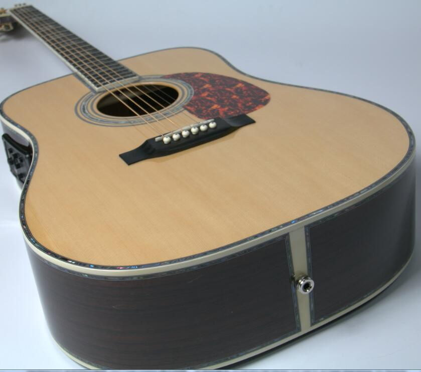 Top Quality Starshine Fishion D Style Acoustic Guitar  Solid Spruce Ebony Fingerboard 41'' free shipping best price wholesale top quality solid spruce top 12 strings j200 sunburst color acoustic guitar 14815