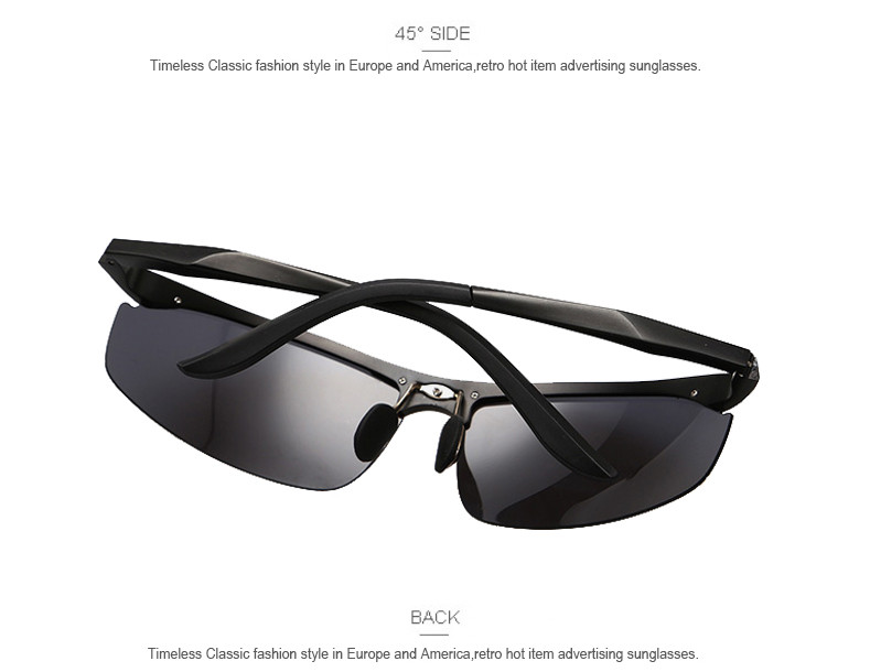 High Quality Aluminum Alloy Frame Polarized Sunglasses Men's Driver Sunglass Mirror Outdoor Sports Glasses with 6 Accessories 5