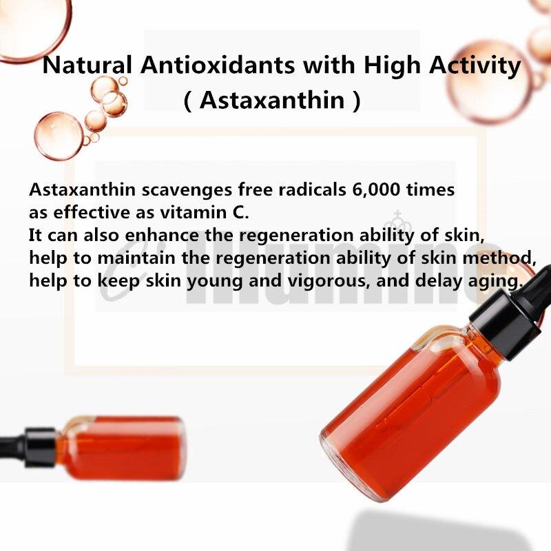 L'essence antioxydante de Solution d'astaxanthine illumine la couleur de peau améliore les produits ternes de soin de peau d'essence de visage. - 5