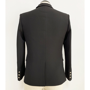 Image 4 - HIGH QUALITY Runway 2020 Designer Mens Blazer Classic Double Breasted Metal Lion Buttons Blazer Jacket Outer Wear