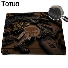 Wholesale And Retail Pistols Mousepad Anti-Slip PC Computer Laptop Gaming Mouse Pad For League of Legends Dota 2 Game Mat