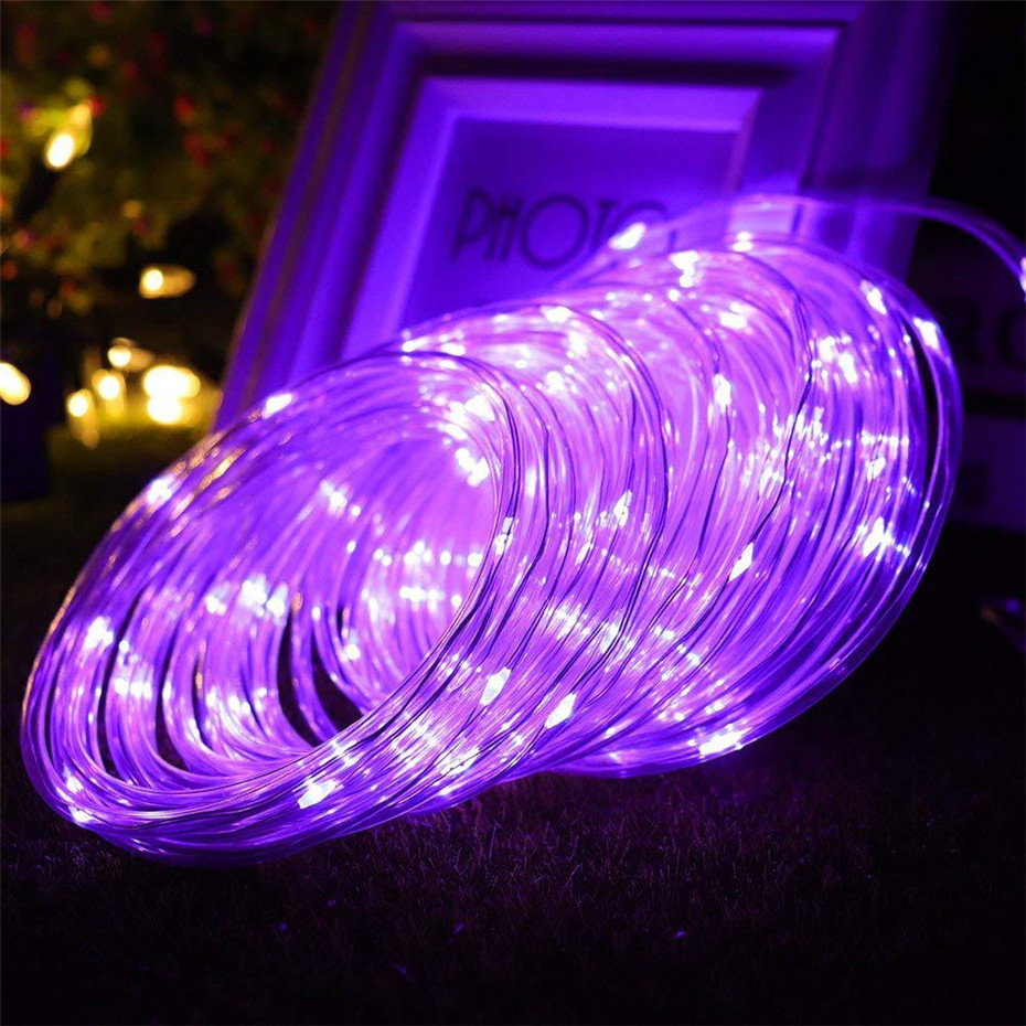 LED Rope Lights Outdoor Fairy Light Safe Voltage Plug Operated LED Strip Decoration For Christmas Garden Trees Street Party