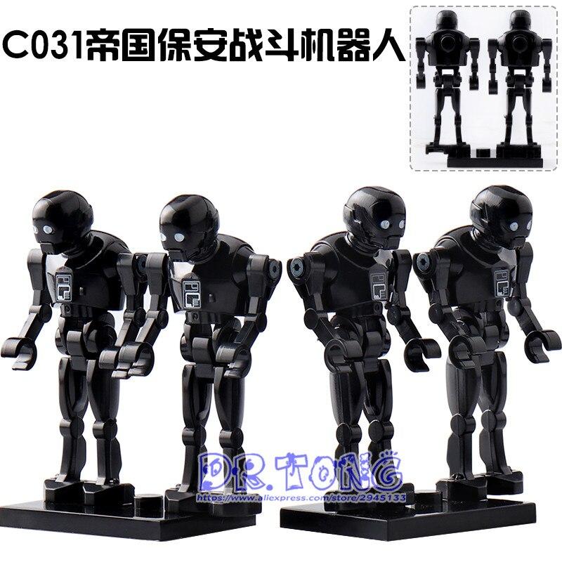 DR.TONG 2018 NEW 80Pcs/LOT New Star Wars Clone Pilot K-2SO SET Model Building Blocks Bricks Toys Children Gifts