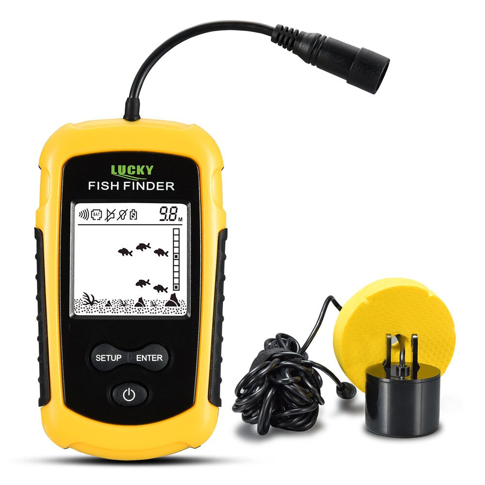 Free Shipping! LUCKY FF1108-1 Portable Fish Finder Sonar Sounder Alarm Transducer Fishfinder 0.7-100m fishing echo sounder portable fish finder sonar sounder alarm transducer fishfinder 0 7 100m fishing echo sounder with battery with english display