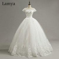Cheap Customized Short Lace Sleeve Vintage Wedding Dress Princess Plus Size Bride Gowns Dresses Fashion Vestido