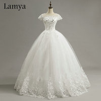 Cheap Customized Short Lace Sleeve Vintage Wedding Dress Princess Plus Size Bride Gowns Dresses Fashion Vestido