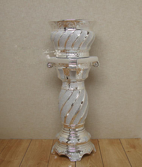Große gold/silber cermet wohnzimmer bodenvase hotel dekoration vase ...