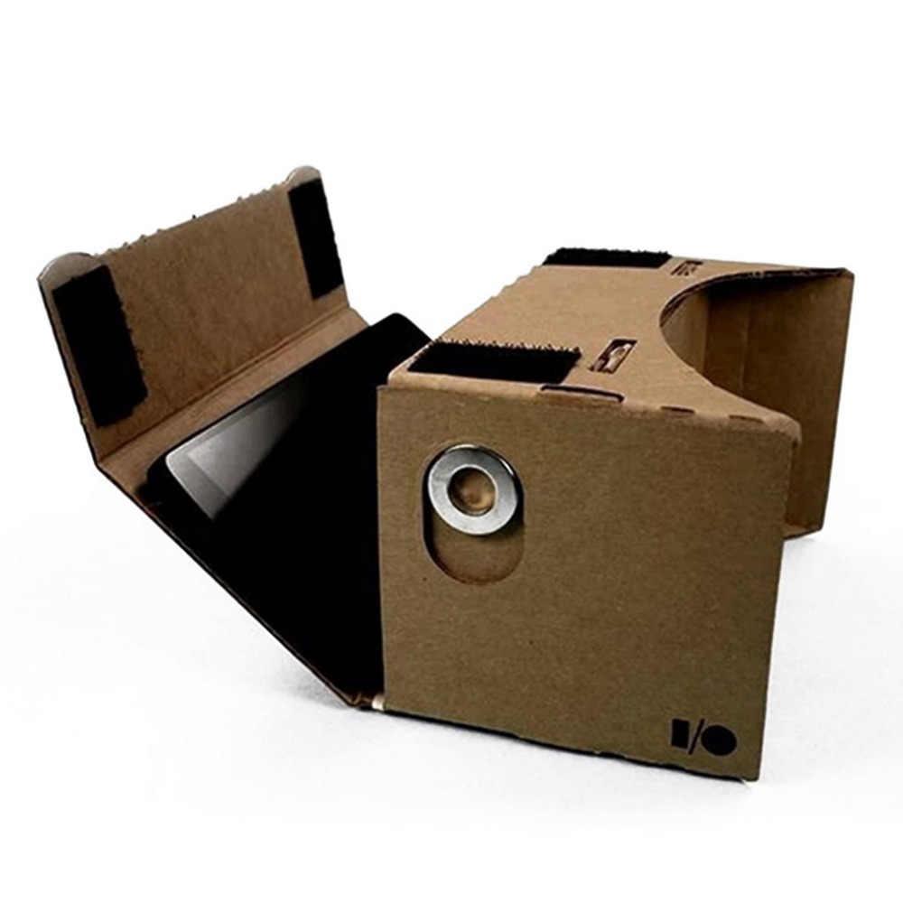 Ulter Claro DIY Papelão 3D VR Óculos de Realidade Virtual Para Smartphone de Alta qualidade DIY Ímã Google Óculos de Papelão
