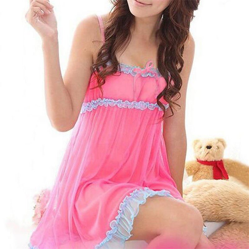 Fashion Women Sexy Nightdress Nighties Ladies Nightgown Lace Sleepwear Nightwear Cosy Lingerie Babydoll
