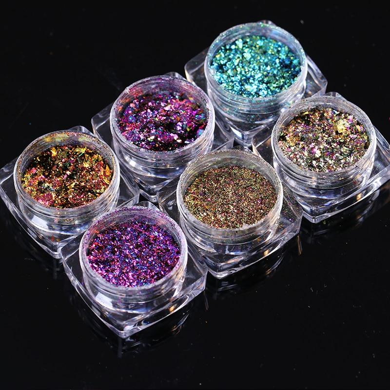 BORN PRETTY Holographic Nail Glitter Хамелеон Опасы 0.2g - Маникюр - фото 6