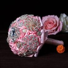 a8b37476f 24Pcs/Set Brooches Women Hand Flower Accessories Jewelry Rhinestone  Broaches Pins Alloy Plating Drill Pin