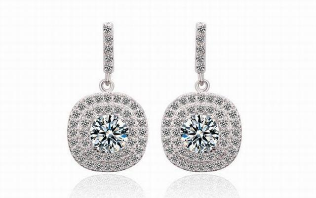 Luxury Swiss Cubic Zirconia Women s Square Drop Earrings Fashion Girls Wedding  Dangle Earrings Femme Fine Jewelry a77dfa4723c2