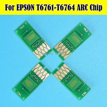 4 Piece/Set T6761-T6764 T676 Auto Reset Chip For Epson WP-4530 WP-4010 WP-4020 WP-4023 WP-4090 Printer Cartridge Chips