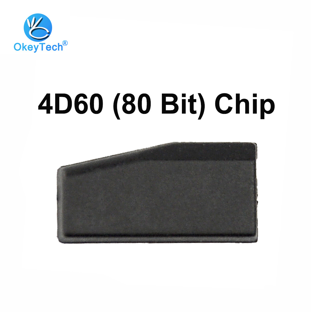 OkeyTech 4D60 80 бит чистый церемонический чип TP06 автомобильный Карбон приемопередающий чип ключа автомобиля ID60 80 бит для ford для Nissan для Kia Toyota