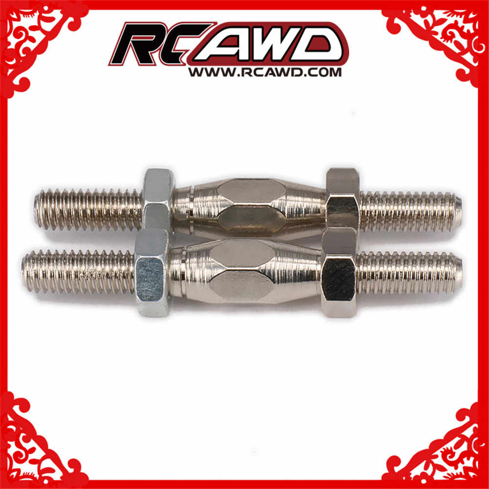 Zilveren Stropdas Staaf Pull-Push Staaf M4 38.5mm M3 26.5mm #45 Staal Voor RC Auto Buggy truck Deel HSP Axiale Traxxas Himoto