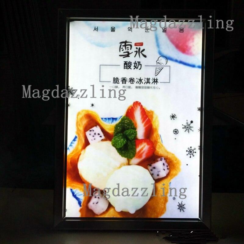 """Cadre 16 X 24 16 """"x 24"""" slim clip en aluminium cadre ouvert led lumineux menu"""