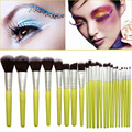 New Professional 23PCS/set Makeup Brush Tools Green Bamboo Handle Makeup Brushes Kit Cosmetic Make Up Foundation Brushes
