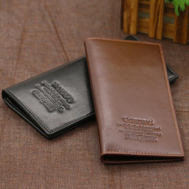 Men Long Faux Leather Billfold Clutch Purse Card Holder Handbag Business Wallet 9XR6