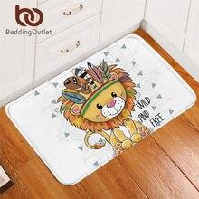 BeddingOutlet Cartoon Animal Doormat Cute Lion Owl Dog Door Carpet Colorful Pug Rugs Non-slip Mats for Kids wholesale 40x60cm