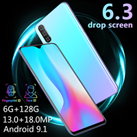cell phone screen CHAOAI M9 Smartphone 6GB 128GB Global Version Smart Cell Phone 6.3 inch Water Drop Screen Dual Sim 3G Mobile (3)