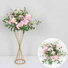 New DIY Wedding Table Centerpiece Artificial Flower Ball Stand Backdrop Wall Road Lead Hotel Party Stage Decor