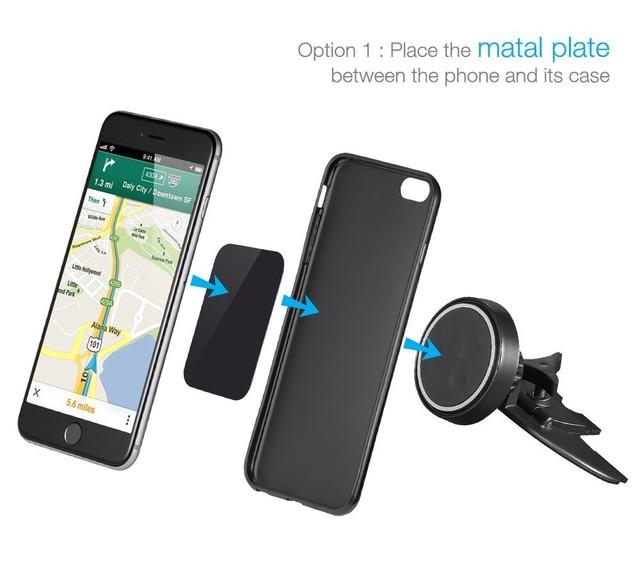 support mobile de voiture magn tique de voiture cd slot tablet support gps pour iphone 7 plus. Black Bedroom Furniture Sets. Home Design Ideas