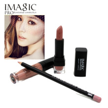 IMAGIC Makeup lip Waterproof Long Lasting Lipgloss+ Lipstick+ LipLiner Pencil Makeup Set Long Lasting Lipstick lip gloss