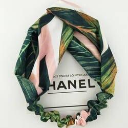 Лето, богемный стиль Hairbands печати повязки для женщин ретро крест повязка-тюрбан повязки банданы для женщин аксессуары для волос