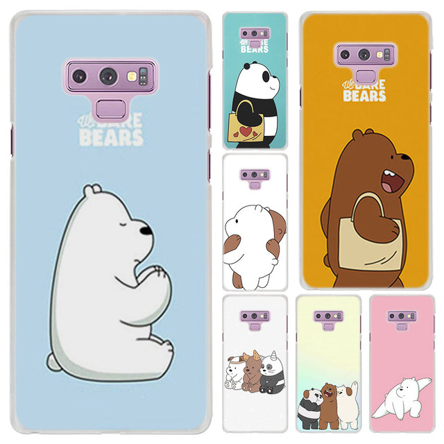 huge discount 9cc1d 87558 US $2.1 12% OFF|We Bare Bears Panda Pattern Transparent frame hard Case  Cover for Samsung Galaxy Note 9 8 Note 5 S6 S7 Edge S8 S9 Plus-in  Half-wrapped ...