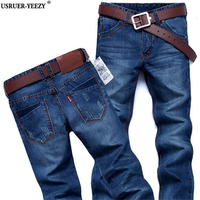 USRUER-YEEZY Hot Sale 2017 New Arrived Classic Designer Famous Brand Straight Mens Jeans Fashion Europe America Style Jeans Male