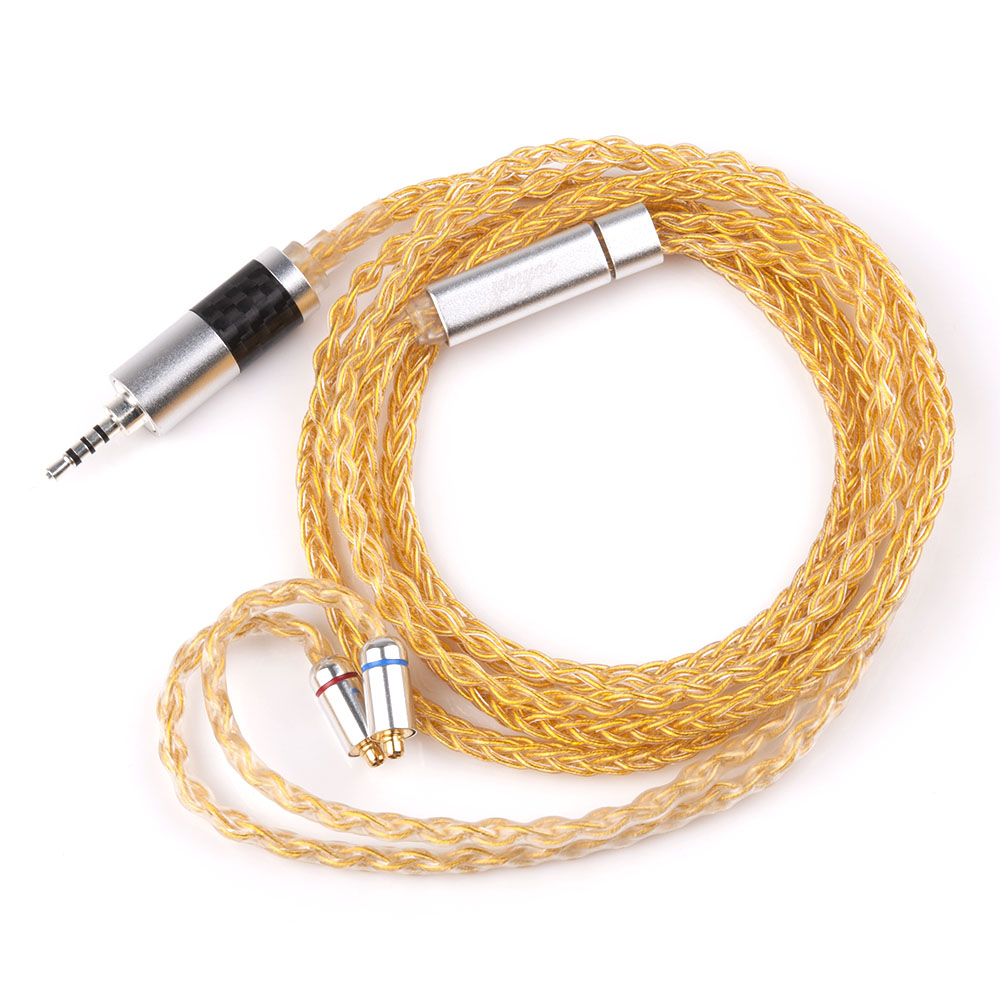 Yinyoo 8 Core Pure Silver Upgraded Cable 2.53.54.4mm Balanced Cable With MMCX2pin Connector For HQ5 HQ6 TFZ ZS10 ZS6 (14)