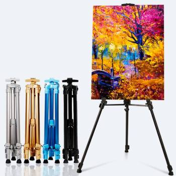 Portable Adjustable Aluminum Display Art Easel Painting Easel Stand For Painting Oil Paint Sketch Artist Art Supplies For Artist metal easel for artist painting sketch weeding easel stand drawing table box oil paint laptop accessories painting art supplies