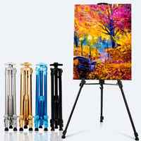 Portable Adjustable Aluminum Display Art Easel Painting Easel Stand For Painting Oil Paint Sketch Artist Art Supplies For Artist