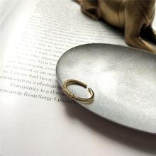 Автоклав 925 пробы Серебряное кольцо из циркона золотые модные temerament матч указательный палец регулируемые кольца для женские украшения из циркона R4