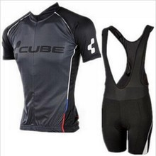 2016 Brand Pro Team Cube Cycling Jersey Ropa Ciclismo Quick-Dry Sports Jersey Cycling Clothing GEL Pad Bike Wear Mtb Jersey